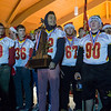 The Batavia High School Football Team take center stage to celebrate their Class 6A Football Championship with the crowd at The Batavia Celebration of Lights Festival on The Batavia River Walk in Batavia, IL on Sunday, December 01, 2013 (Sean King for Shaw Media)
