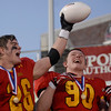 Erica Benson-ebenson@shawmedia.com<br /> Batavia's Forrest Gilbertson and Ryan Minniti react to their 1st place state championship during their game against Richards in DeKalb Saturday November 16 2013. Batavia defeated Richards 34/14 for 1st place.
