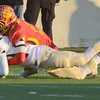 Erica Benson-ebenson@shawmedia.com<br /> Batavia's Michael Moffatt takes down Richards' Spencer Tears during their state game in DeKalb Saturday November 16 2013. Batavia defeated Richards 34/14 for 1st place.