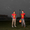 Batavia's Anthony Scaccia (left) and Michael Moffatt are this year's Kane County Chronicle Football co-players of the year.