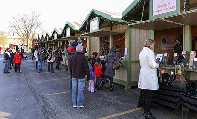 Jeff Krage – For Shaw Media People shop during Saturday's Christkindl Festival in downtown Barrington. Barrington 12/7/13