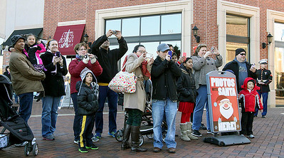 Jeff Krage – For Shaw Media People in line to meet Santa take pictures as his reindeer approach during Saturday's event at the Arboretum of South Barrington. South Barrington 11/30/13