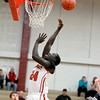 Mooseheart's Mangisto Deng goes up for a shot during their home game against Harvest Christian Academy Tuesday night.