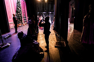 Sarah Nader- snader@shawmedia.com A dancer waits for her cue during dress rehearsal for The Nutcracker Ballet presented by Berkshire Ballet Theater at the Raue Center for the Arts in Crystal Lake Thursday, December 19, 2013. The ballet features a cast of over 150 dancers with performances on Saturday, December 21 at 3:00 p.m. and 7:00 p.m. along with a matinee performance on Sunday at 3:00 p.m.