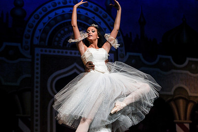 Sarah Nader- snader@shawmedia.com Jennifer Rowe performs as Clara Staulbaum during dress rehearsal for The Nutcracker Ballet presented by Berkshire Ballet Theater at the Raue Center for the Arts in Crystal Lake Thursday, December 19, 2013. The ballet features a cast of over 150 dancers with performances on Saturday, December 21 at 3:00 p.m. and 7:00 p.m. along with a matinee performance on Sunday at 3:00 p.m.