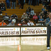 St.Charles East's Athletic Director Mike Sommerfeld thanks the crowd for contributing to the Hoops for Hope raffle during this evenings game against Batavia at St.Charles East High School in St.Charles, IL on Saturday, December 21, 2013 (Sean King for Shaw Media)