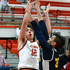 St. Charles East sophomore Nate Ortiz shoots over a defender during the Saints game against Lincoln Park Dec. 27 at the Hinsdale Central Holiday Classic boys basketball tournament.<br /> Mark Busch - mbusch@shawmedia.com