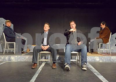 "A rehearsal for 16th Street Theater's interpretation of Jon Steinhagen's ""Blizzard '67""."