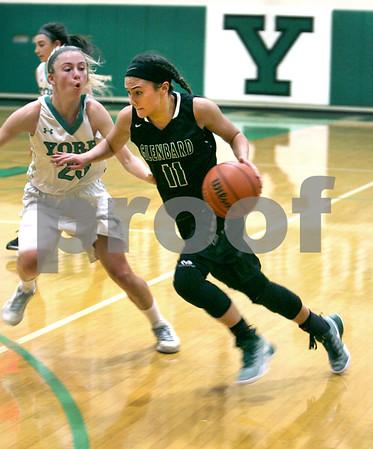Glenbard West at York girls basketball