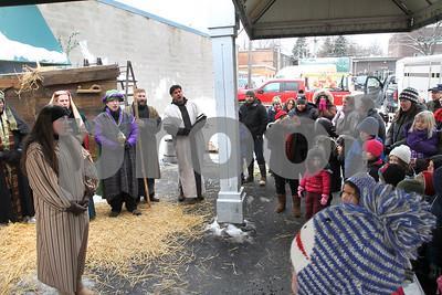 Wheaton Artwalk living nativity