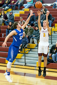 Richmond-Burton's Kyle Townsend shoots for three against Woodstock Thursday, December 7, 2017 in Richmond. Richmond wins 71-57. KKoontz-For Shaw Media