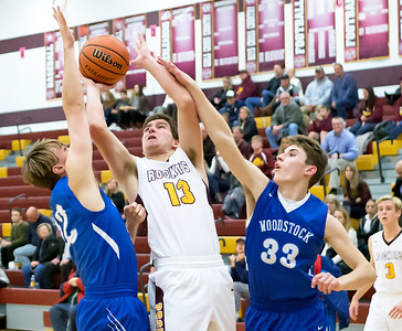 Richmond-Burton's Luke Uhwat goes up for the shot against Woodstock Thursday, December 7, 2017 in Richmond. Richmond wins 71-57. KKoontz-For Shaw Media