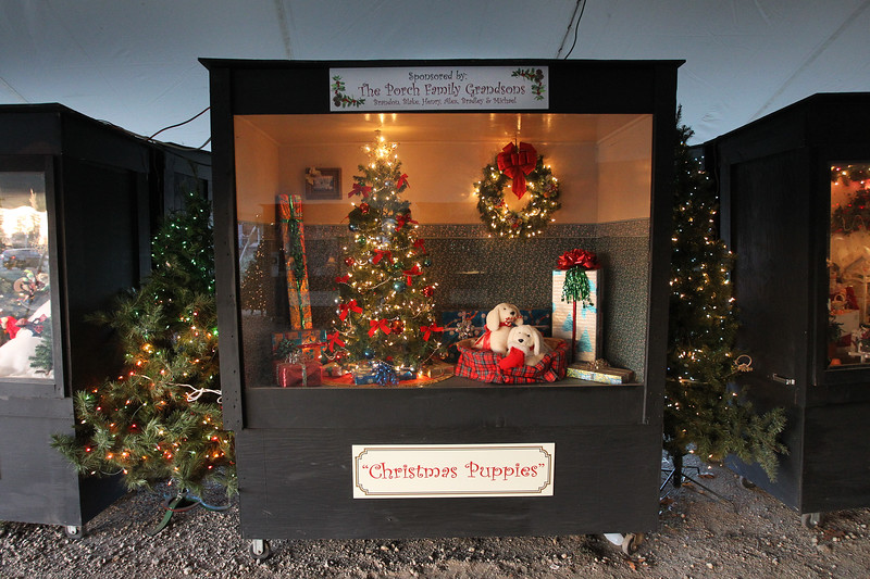 "Candace H. Johnson-For Shaw Media The ""Christmas Puppies"" oversized shadow box was on display at the Kringle's Christmas Village in downtown Antioch. (12/23/17)"