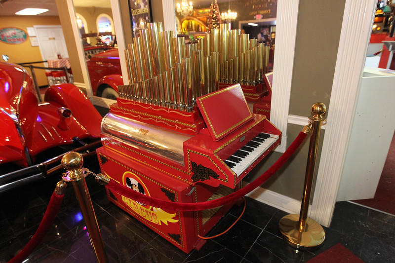 Candace H. Johnson-For Shaw Media A 1912 Cozatt Calliope music machine was on display during the Grand Opening of the Duesenberg/Music Room at the Volo Auto Museum. (12/26/17)