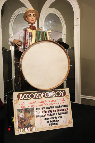 Candace H. Johnson-For Shaw Media An animated Accordeo Boy self-playing music machine built in1923 was on display during the Grand Opening of the Duesenberg/Music Room at the Volo Auto Museum. (12/26/17)