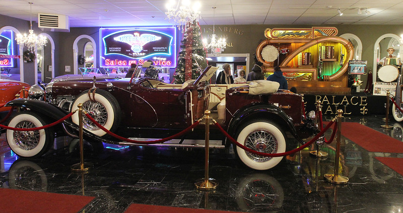 Candace H. Johnson-For Shaw Media A 1932 Duesenberg convertible with a drinking bar in the back seat was on display during the Grand Opening of the Duesenberg/Music Room at the Volo Auto Museum. (12/26/17)