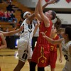 Batavia's Erin Golden puts the rebound back up against Streamwood on Dec. 7 in Streamwood.