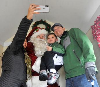 Kids visiting Santa