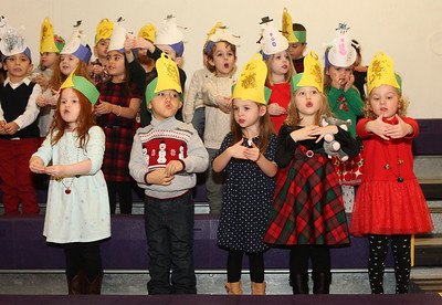 Candace H. Johnson-For Shaw Media Engle Junction Preschoolers sing Christmas carols during the Light Up Your Holiday! Holiday Tree Lighting festivities at the Lindenhurst Park District's Lippert Community Center on Grass Lake Road. (12/1/18)