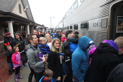 Candace H. Johnson-For Shaw Media Families get on to the Grayslake Park District's Polar Express Storytime Train at the Grayslake Metra Station on Lake Street. (12/2/18)