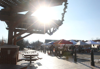 Candace H. Johnson-For Shaw Media The Grayslake Farmers Market shines brightly on a winter day on Center and Whitney Streets in downtown Grayslake. Next Saturday, December 15th, the market is open from 10-2 pm, the market's last day of the season. (12/8/18)