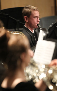 Candace H. Johnson-For Shaw Media Kenneth Rolla plays his clarinet in the Concert Band as they perform during the Winter Concert at Lakes Community High School in Lake Villa. (12/11/18)