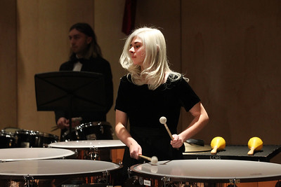Candace H. Johnson-For Shaw Media Christy Green, 16, of Lake Villa plays percussion with the Concert Band during the Winter Concert at Lakes Community High School in Lake Villa. (12/11/18)