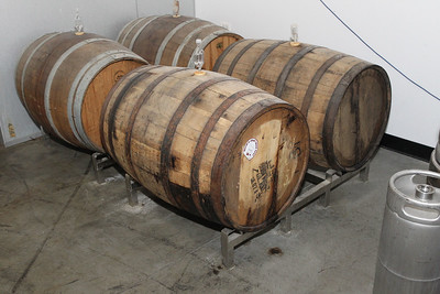 Candace H. Johnson-For Shaw Media Wild red ale ages for twelve months in Bourbon and Pinot Noir barrels at the Only Child Brewing Company Brewery in Gurnee. (12/11/18)