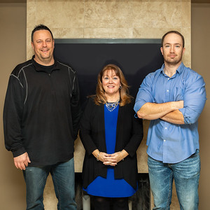 Three Cary Village Board candidates (L-R) Dale Collier Jr., Ellen McAlpine and Sean Wheeler pose for a photo Friday, December 14, 2018 in Cary.  KKoontz – For Shaw Media
