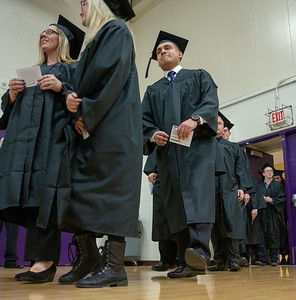 The class of 2018 McHenry County College Winter graduates filed into the gym to receive their degrees Saturday, December 15, 2018 in Crystal Lake.   KKoontz – For Shaw Media