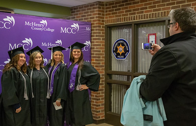 Classmates and friends gathered for photos during the 2018 McHenry County College Winter Commencement ceremony Saturday, December 15, 2018 in Crystal Lake.   KKoontz – For Shaw Media