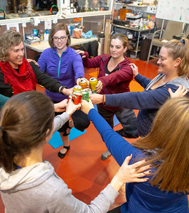 YArea residents attend Yoga & Beer with Akasha held Wednesday, December 26, 2018 at the Crystal Lake Brewery in Crystal Lake. KKoontz – For Shaw Media