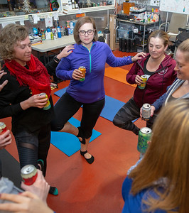 Area residents attend Yoga & Beer with Akasha held Wednesday, December 26, 2018 at the Crystal Lake Brewery in Crystal Lake. KKoontz – For Shaw Media