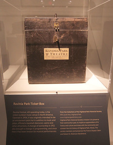 """Candace H. Johnson-For Shaw Media A Ravinia Park Theatre ticket box is on display and also featured in the book, """"200 Objects That Made History in Lake and McHenry Counties,"""" which was highlighted during an Illinois Bicentennial Celebration at the Bess Bower Dunn Museum in Libertyville. Free programs are offered at the Dunn Museum every 1st and 3rd Thursday evening. (12/20/18)"""