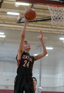 Crystal Lake Central's Evan Cassell takes thee open lay-up against Hampshire Saturday, December 29, 2018 during the E.C. Nichols championship game in Marengo. Crystal Lake Central takes the championship 75-58. KKoontz – For Shaw Media