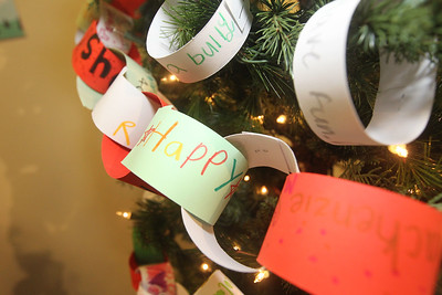 Candace H. Johnson-For Shaw Media Children decorate construction paper links to add to the Grayslake Historical Society Children's Tree every year in the Giving Trees exhibit at the Grayslake Heritage Center & Museum during the Grayslake Tree Lighting Festivities in downtown Grayslake. (11/29/19)