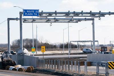 Illinois Tollway Route 23 and I-90 Tollway Interchange