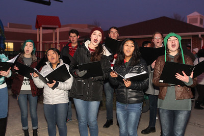 Candace H. Johnson-For Shaw Media The Lakes Community High School Chamber Choir sings Christmas songs before the Holiday Tree Lighting at the Lippert Community Center in Lindenhurst. (12/7/19)