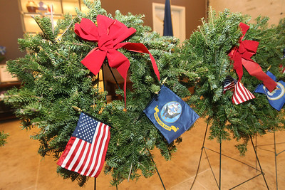 Candace H. Johnson-For Shaw Media Different branches of the military including the United States Navy were honored with wreaths presented during the Wreaths Across America ceremony at the Warren Funeral Home Mauseleum in Gurnee.  (12/14/19)