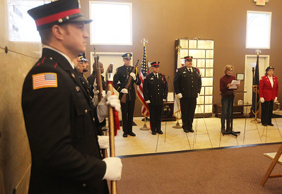 Candace H. Johnson-For Shaw Media Kristina Kovarik, mayor of Gurnee, talks about honoring the veterans of those we lost and those who served during the Wreaths Across America ceremony at the Warren Funeral Home Mausoleum in Gurnee.  (12/14/19)