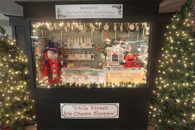 "Candace H. Johnson-For Shaw Media The supersized shadowbox titled, ""Icicle Street Ice Cream Shoppe, "" is featured in the indoor showroom of  Kringle's Christmas Village at #510 Orchard Street in downtown Antioch. The Village is open daily from 10:00am until 8:00 pm through January 1st, 2020. (12/21/19)"