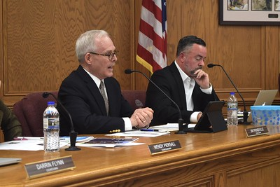 Woodstock City Council member Jim Prindiville discusses the development of the Die Cast property at the Woodstock City Council meeting on Dec. 17.