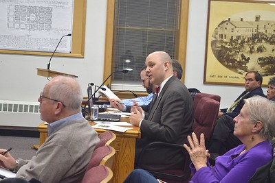 Garrett Anderson, Woodstock's economic development director, presents on using the Downtown Development Plan as the framework for the purchase and development of the Die Cast Property at the Woodstock City Council meeting on Dec. 17.