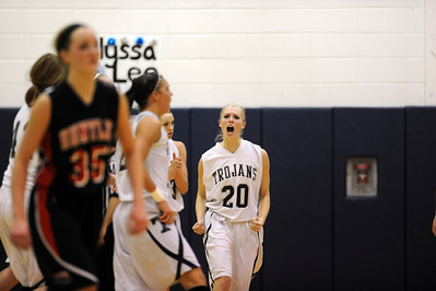 Daniel J. Murphy - dmurphy@shawmedia.com  Cary-Grove's Alyssa Lee reacts to a three point basket by teammate Josyln Nicholson in the third period Saturday February 4, 2012 at Cary-Grove high school in Cary. Cary-Grove defeated Huntley 41-39.