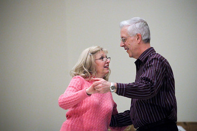 Jenny Kane - jkane@shawmedia.com Brian and Eileen Cowell of Crystal Lake learn to dance during a dance class at the Rotary Building at Veterans Acre Park.  The Cowell's have been married for 30 years and are taking the class so that they can dance at their daughter Rebecca's wedding in May.