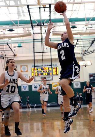Sarah Nader - snader@shawmedia.com Cary-Grove's Katie Barker makes a lay up during the third quarter of Thursday's crossover game between the FVC Valley champion and the FVC Fox champion on February 9, 2012 in Grayslake. Cary-Grove won, 58-54.