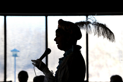 Sarah Nader - snader@shawmedia.com In advance of Presidents Day, The Fountains at Crystal Lake welcomed guest performer Jenny Riddle, who reenacted three famous first ladies, Abigail Adams, Dolley Madison and Louisa Adams on Thursday, February 9, 2012.