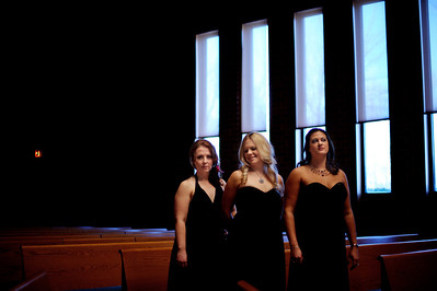 "Daniel J. Murphy - dmurphy@shawmedia.com  Grace Lutheran Church opened it's doors to a free performance of ""Songs of Love"" by the vocal trio VOIX DE LAE FEMM Saturday February 11, 2012 in Woodstock. Pictured from left: Erin Pettitt of Elmhurst, Carrie M. Filetti of Woodstock, and Amanda Brex-Castiool of Cary."