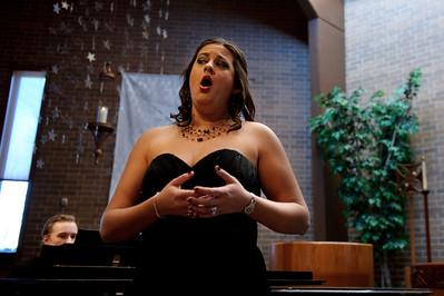 "Daniel J. Murphy - dmurphy@shawmedia.com  VOIX DE LAE FEMM member, Amanda Brex-Castiool of Cary,  performs ""Songs of Love"" before a small crowd at Grace Lutheran Church Saturday February 11, 2012 in Woodstock."