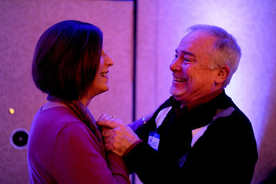 Sarah Nader - snader@shawmedia.com Nancy Meehan (left) of Barrington and her husband, Sean, dance a waltz during a First Dance event hosted by Gulbrandson Orthotics & Prosthetics at the Holiday Inn in Crystal Lake on February 12, 2012. People with physical challenges were taught how to dance by instructors at the Center for Ballroom and Dance in Deer Park.